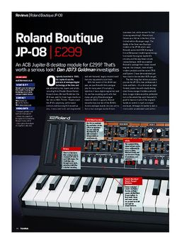 Future Music Roland Boutique JP-08
