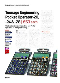Future Music Teenage Engineering Pocket Operator-20, -24 & -28