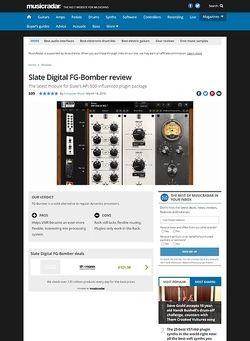 MusicRadar.com Slate Digital FG-Bomber