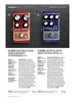 Guitarist Dod Meatbox Bass Subharmonic Synthesizer