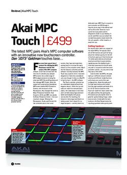 Future Music Akai MPC Touch