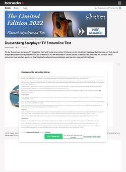 Bonedo.de Duesenberg Starplayer TV Streamline