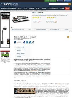 Audiofanzine.com M-Audio Code 49