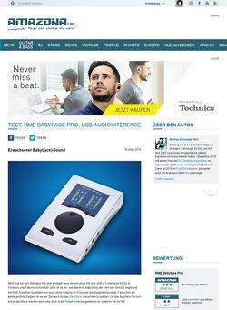 Amazona.de Test: RME Babyface Pro, USB-Audiointerface