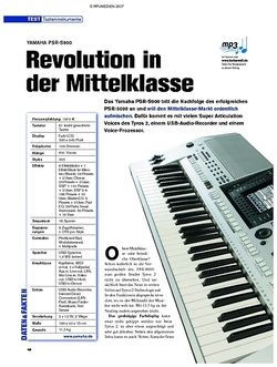 Tastenwelt Test: Yamaha PSR-S900 - Revolution in der Mittelklasse
