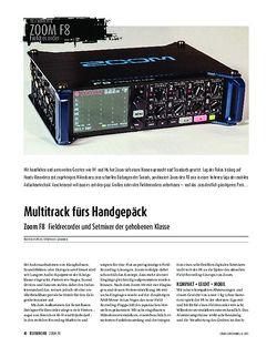 Sound & Recording Zoom F8 - Fieldrecorder und Setmixer der gehobenen Klasse