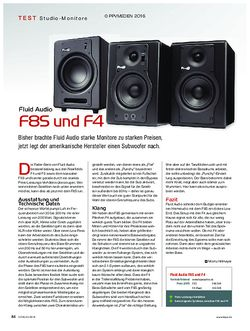KEYS Fluid Audio F8S und F4