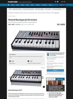 MusicRadar.com Roland Boutique JX-03