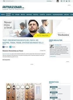 Amazona.de Test: Fredenstein Bento 6D, F601A, HD MicPre, F600A, F603B, System-500 Rack Teil 2