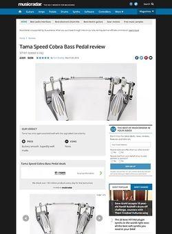 MusicRadar.com Tama Speed Cobra Bass Pedal