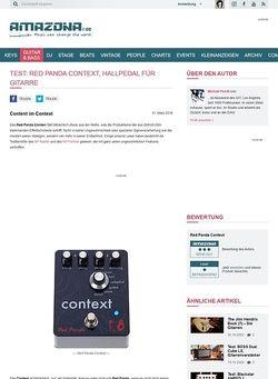 Amazona.de Test: Red Panda Context, Hallpedal für Gitarre
