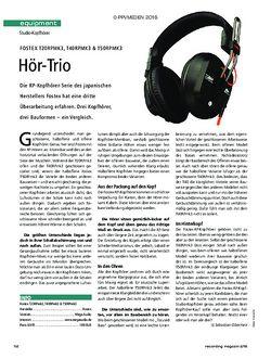 Recording Magazin Fostex T20RPMK3, T40RPMK3 & T50RPMK3