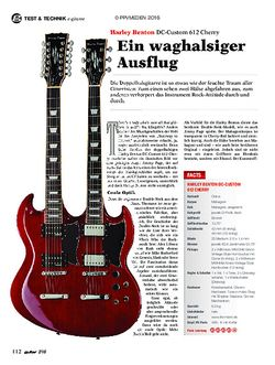 guitar Harley Benton DC-Custom 612 Cherry