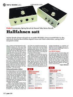 guitar Finhol Accustronics Spring Reverb & Natural Tube Series Reverb