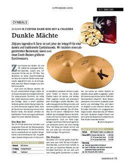 SOUNDCHECK Zildjian K Custom Dark Box Set & Crashes