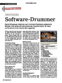 SOUNDCHECK Software Drummer