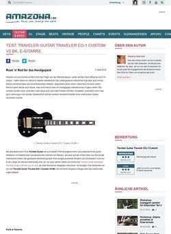 Amazona.de Test: Traveler Guitar Traveler EG-1 Custom V2 BK, E-Gitarre