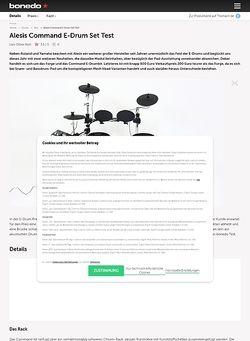 Bonedo.de Alesis Command E-Drum Set