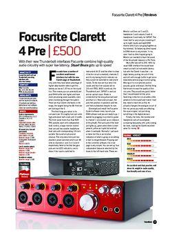 Future Music Focusrite Clarett 4 Pre