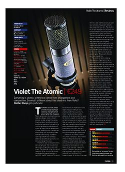 Future Music Violet The Atomic