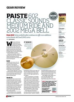 Rhythm Paiste 602 Classic Sounds Medium Ride And 2002 Mega Bell
