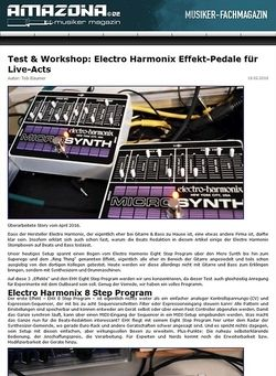 Amazona.de Workshop: Electro Harmonix Ring Thing, Eight Step, Superego, Micro Synth, Clockworks, Crash Pad, Memory Man