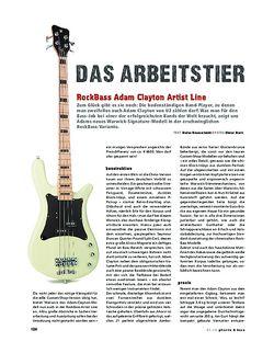 Gitarre & Bass RockBass Adam Clayton Artist Line