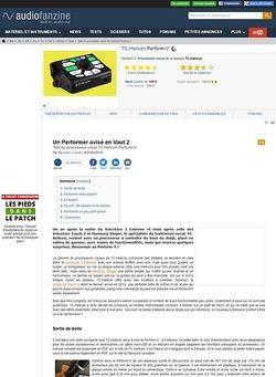 Audiofanzine.com TC-Helicon Perform-V