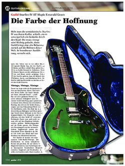 guitar Guild Starfire IV ST Maple Emerald Green