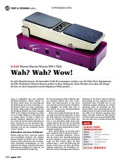 guitar G Lab Warren Haynes Wowee WH-1 Wah