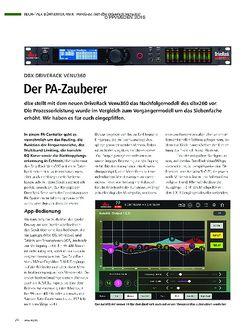 PMA DBX Driverack Venu360