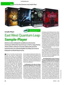 KEYS Test: East West Quantum Leap Sample-Player