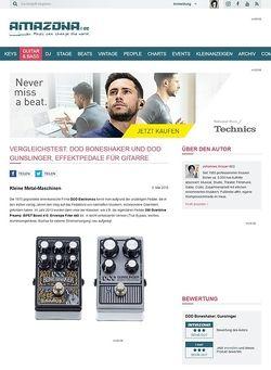 Amazona.de Vergleichstest: DOD Boneshaker und DOD Gunslinger, Effektpedale für Gitarre