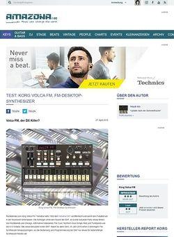 Amazona.de Test: Korg Volca FM, FM-Desktop-Synthesizer