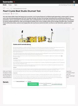 Bonedo.de Pearl Crystal Beat Studio Drumset