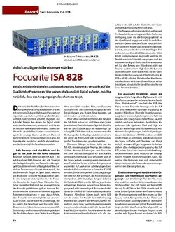 KEYS Test: Focusrite ISA 828