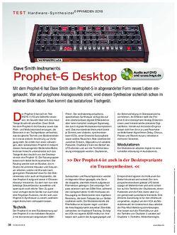 KEYS DSI Prophet 6 Desktop