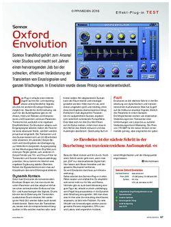KEYS Sonnox Oxford Envolution