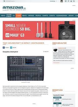 Amazona.de Test: Soundcraft Si Impact, Digitalmixer