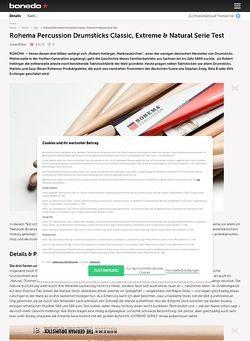 Bonedo.de Rohema Percussion Drumsticks Classic, Extreme & Natural Serie Test