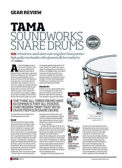 Rhythm Tama Soundworks Snare Drums