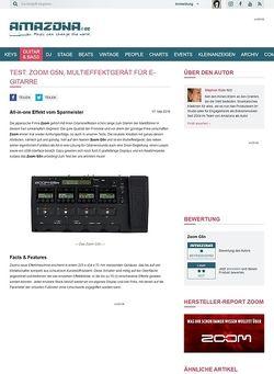 Amazona.de Test: Zoom G5n, Multieffektgerät für E-Gitarre