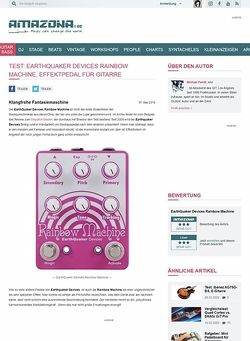 Amazona.de Test: EarthQuaker Devices Rainbow Machine, Effektpedal für Gitarre