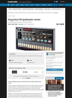 MusicRadar.com Korg Volca FM Synthesizer