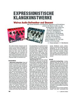 Gitarre & Bass Walrus Audio Bellwether und Descent, FX-Pedale