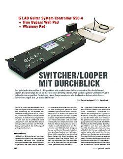Gitarre & Bass G LAB Guitar System Controller GSC-4 + True Bypass Wah Pad + Whammy Pad