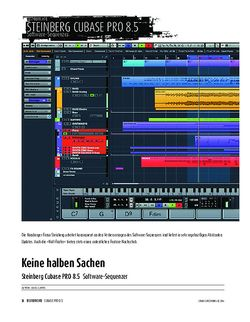 Sound & Recording Update-Check: Steinberg Cubase PRO 8.5 - Software-Sequenzer
