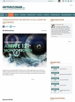Amazona.de Vergleichstest: aktive 12-Zoll Monitorboxen, Dynacord A112A, Behringer Eurolive B812NEO, the box MA1220 MKII, Solton MF300A, dB Technologies Flexsys FM12
