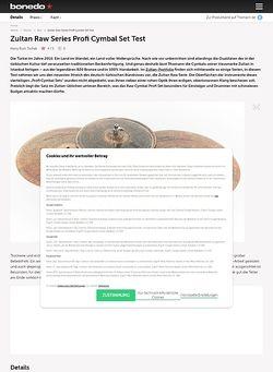 Bonedo.de Zultan Raw Series Profi Cymbal Set