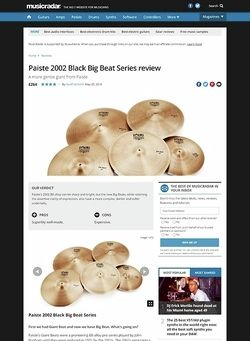 MusicRadar.com Paiste 2002 Black Big Beat Series